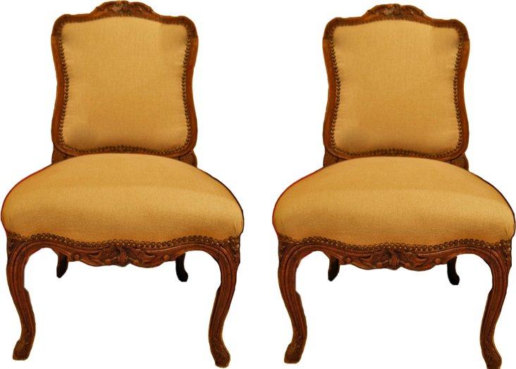 18th-C. Louis XV Chairs, Pair