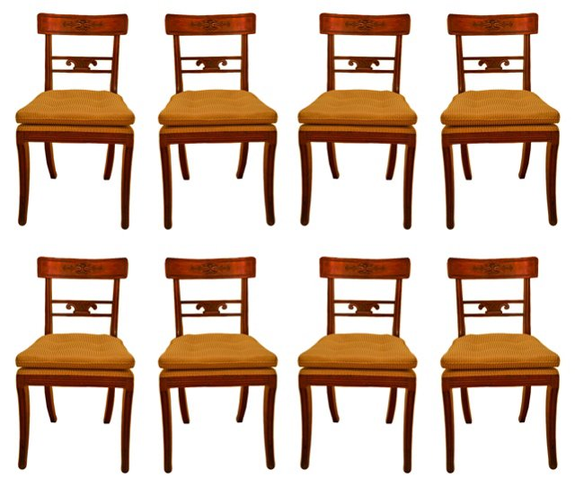 Regency Mahogany Chairs, Set of 8