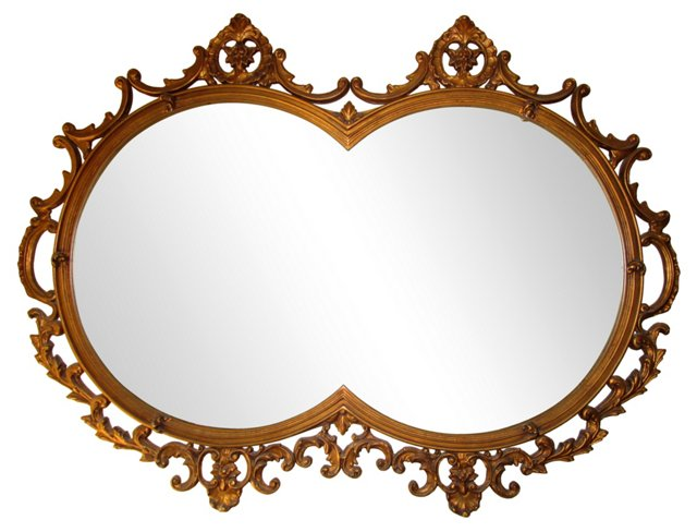 Ornate Double Round Mirror