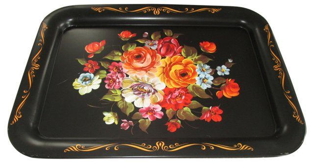 Decorative Floral Tray