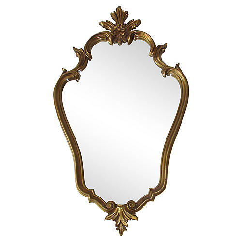 Gold Finish Accent Mirror
