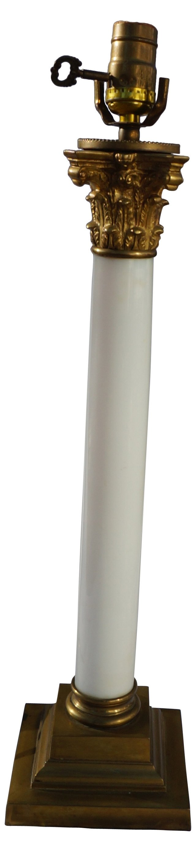 Hollywood Regency-Style Column Lamp