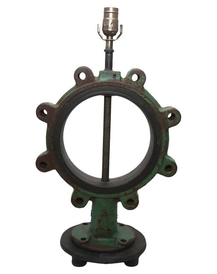 Industrial Iron Lamp
