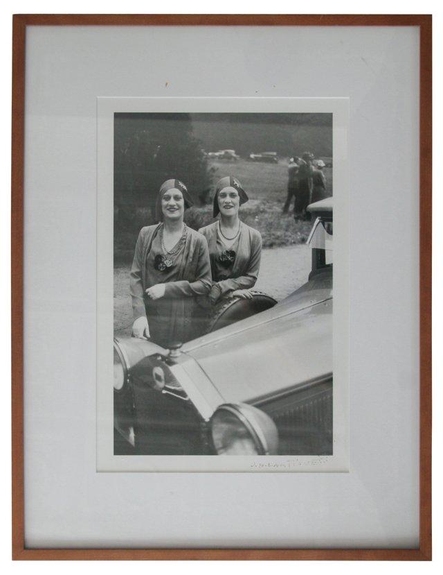 J.H.Lartigue photograph, Rowe Twins