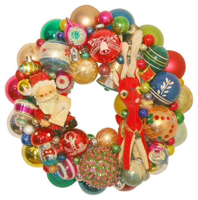 Holiday  Wreath w/  Ornaments