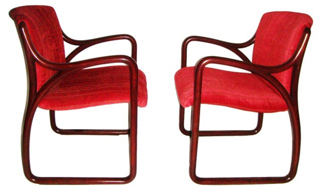 Mid-Century Modern Bentwood Chairs, Pair