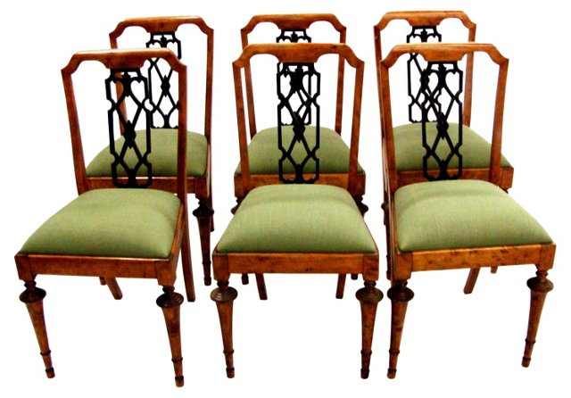 Danish Antique  Dining Chairs, Set  of 6
