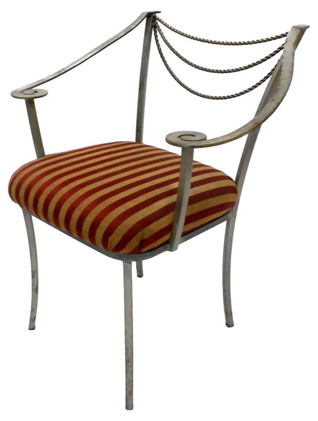 Neoclassical-Inspired Metal Chair