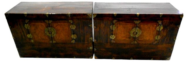 Antique Chinese Chests, Pair