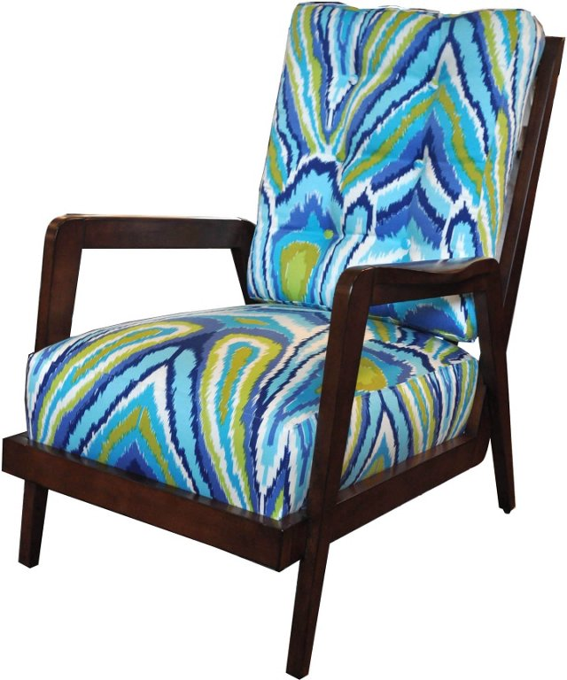Lounge Chair in Designer Fabric
