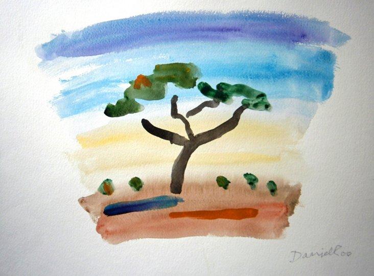 Playful Landscape  Watercolor