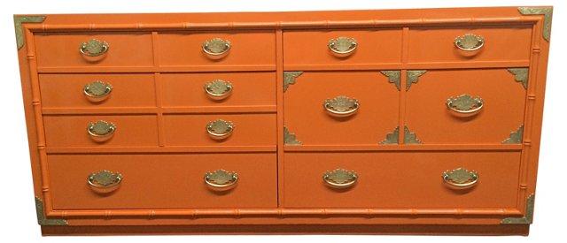 Orange  Faux-Bamboo Dresser