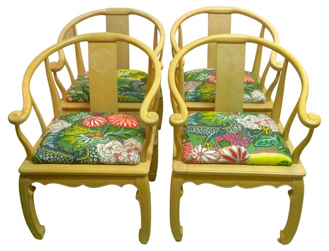 Chairs w/ Chiang Mai Cushions, S/4