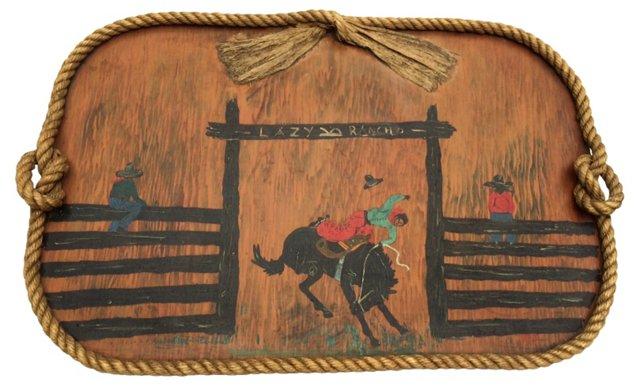 Monterey-Style Folk Art Tray