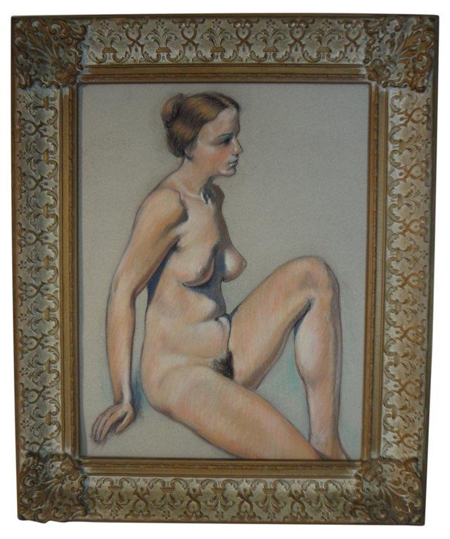 Midcentury Pastel Nude
