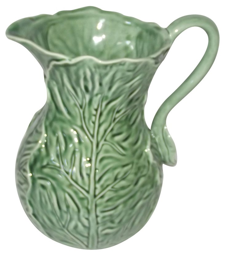 Majolica-Style Pitcher