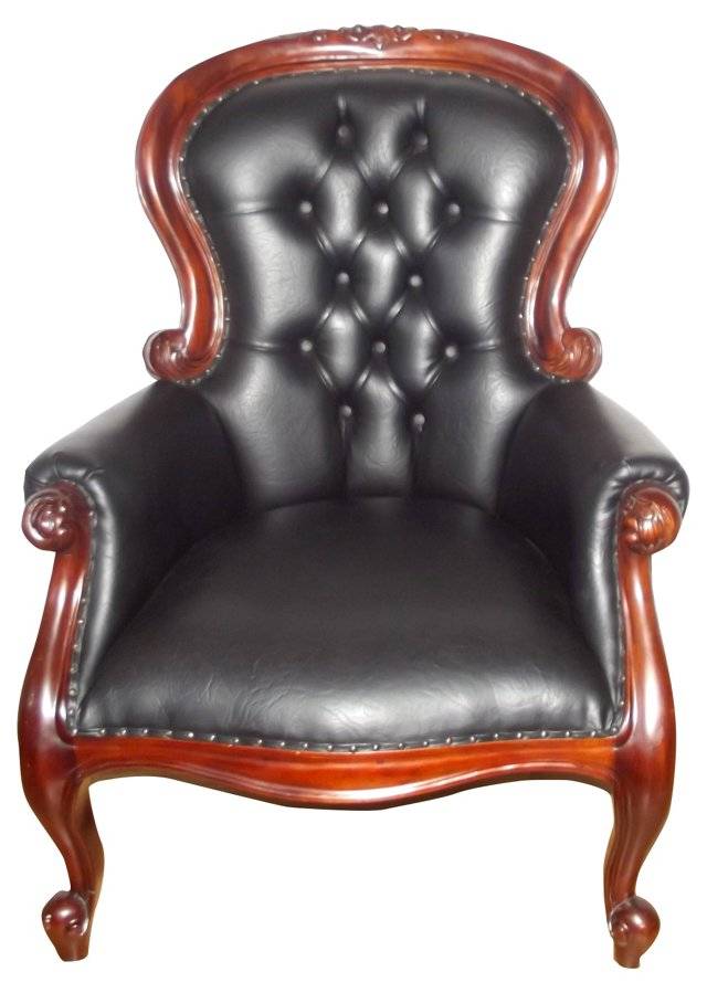 English Victorian Grandfather's Chair