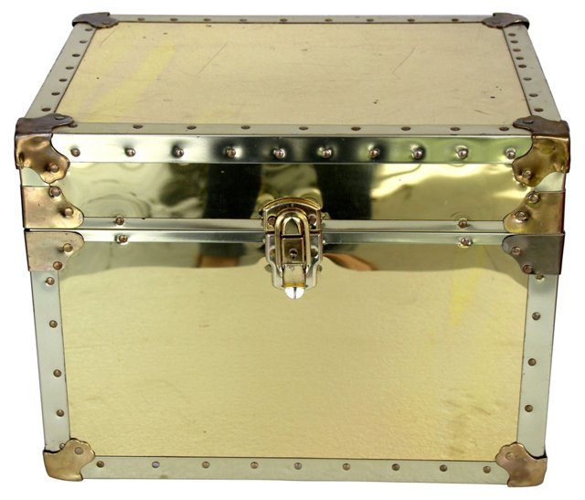 Rectangular Brass Trunk