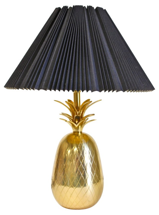 Brass  Pineapple Lamp w/ Shade