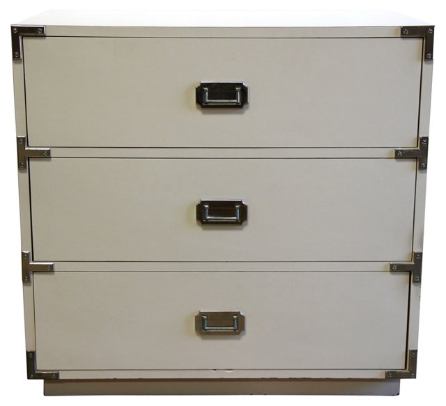 White Campaign-Style   Chest