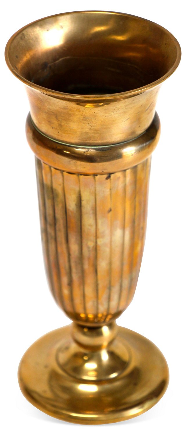Brass Footed Bud Vase