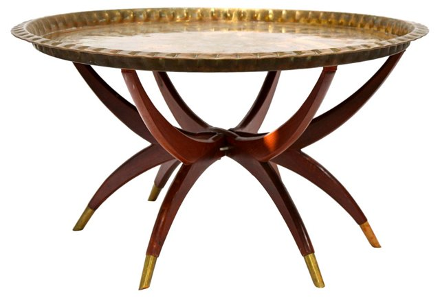 Brass Spider-Leg   Cocktail Table
