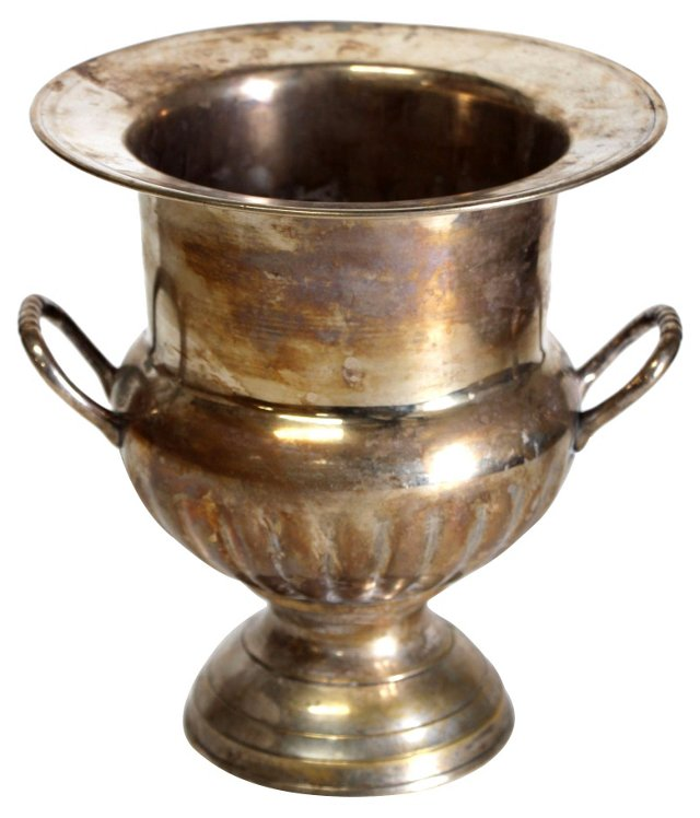 Footed Silverplate Champagne Bucket