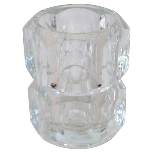 Bohemian Lead Crystal Vase
