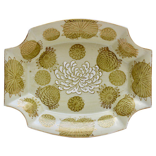 Yellow Chrysanthemum Porcelain Dish