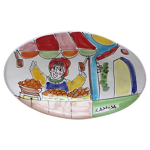 Italian Hand-Painted Dish