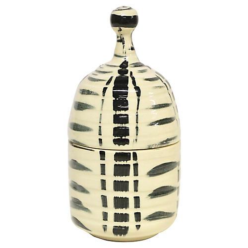Artist Pottery Lidded Jar