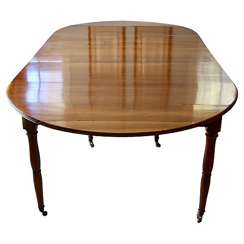 French Walnut Extending Dining Table