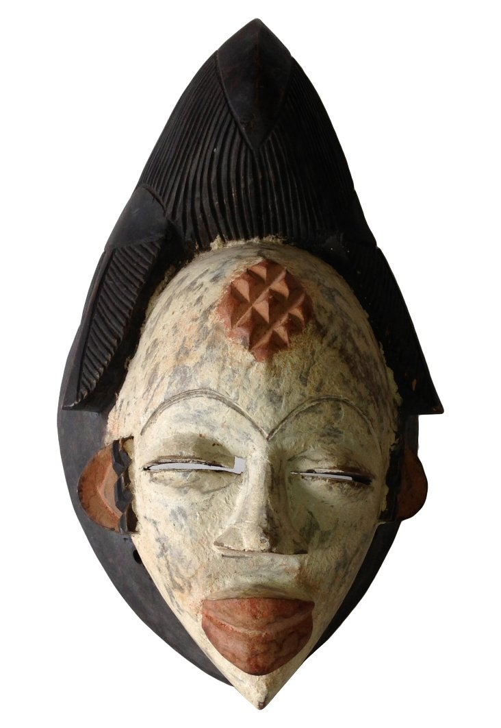 Hand-Carved Wood Tribal Mask
