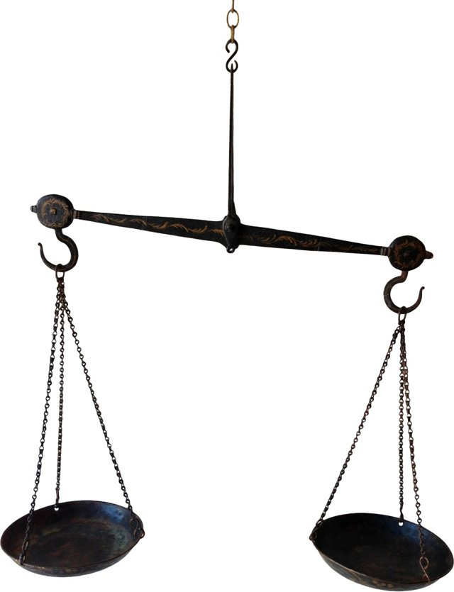 19th-C. Hanging Scale