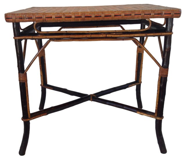 Tree Branch & Bamboo Table