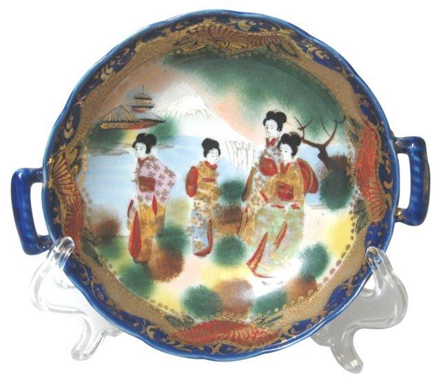 Antique Geisha  Bowl