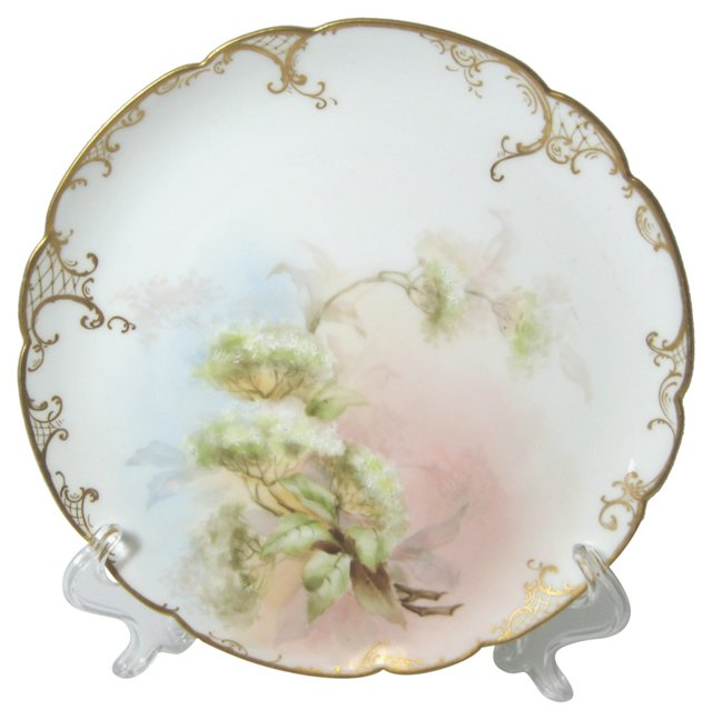 Antique French Floral Plate