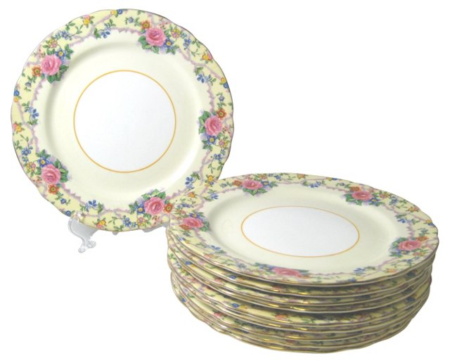 Aynsley Luncheon Plates, S/10