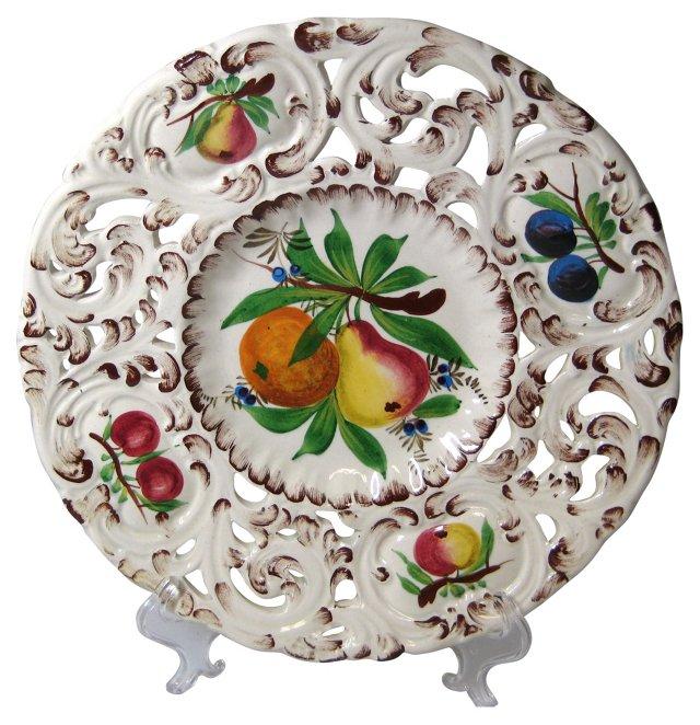 Hand-Painted Italian Plate