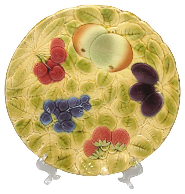 French Majolica Fruit Plate