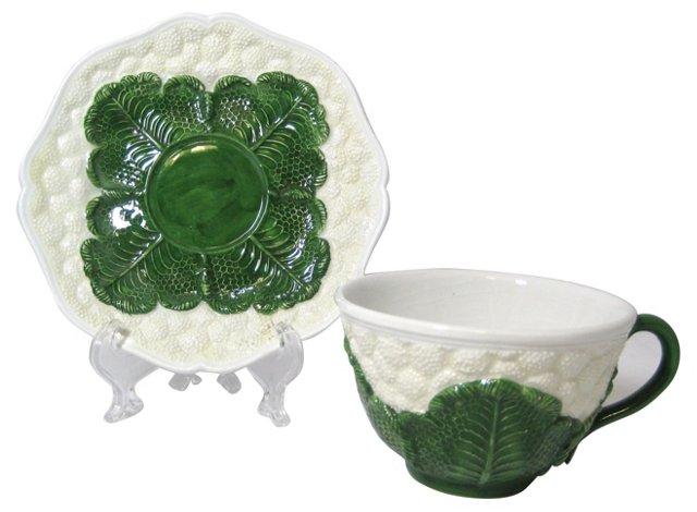Italian Cauliflower Cup & Saucer