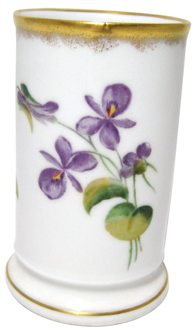 Tumbler w/ Hand-Painted Violets