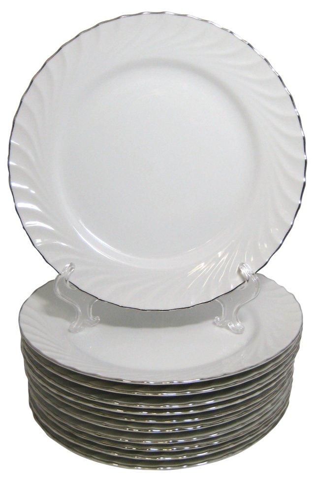 Puritan Dinner Plates, S/11