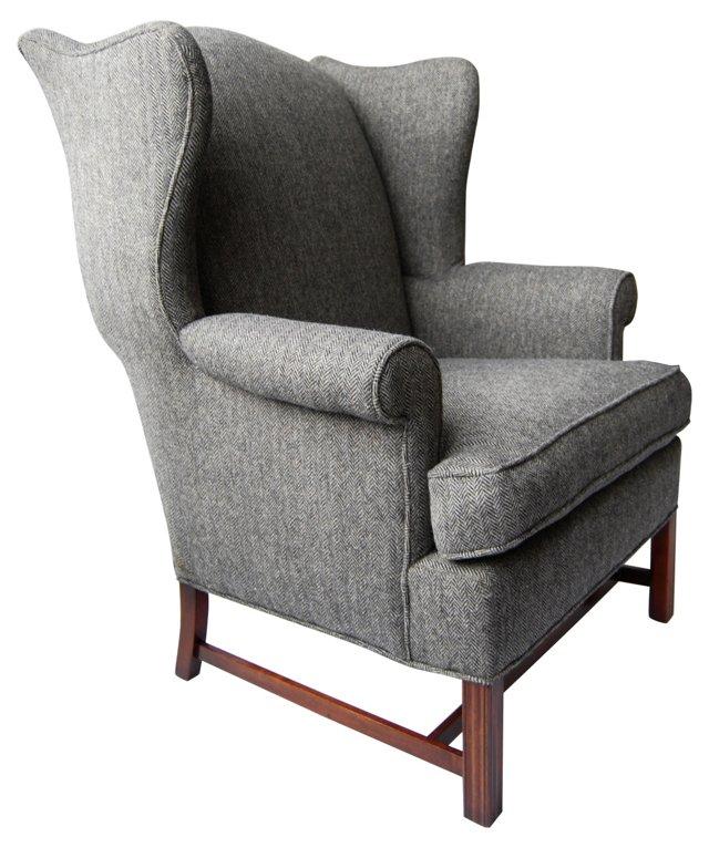 Herringbone Wing Chair