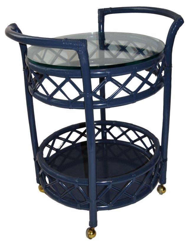 Navy Blue Bar Cart