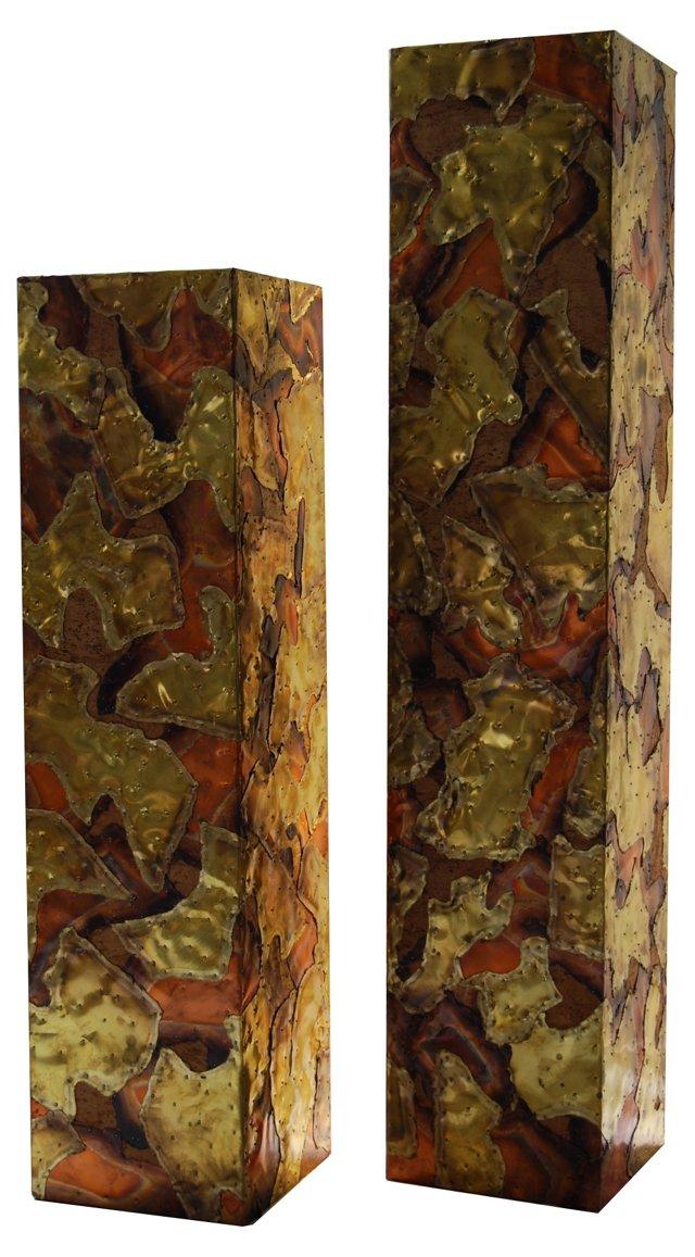 Paul Evans -Style Columns, Pair
