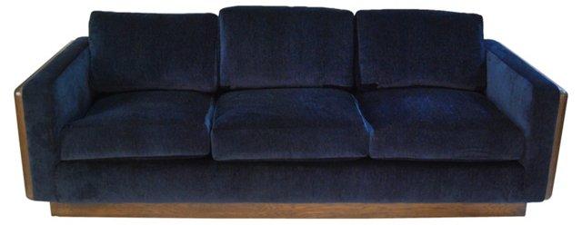Midcentury Navy  Sofa