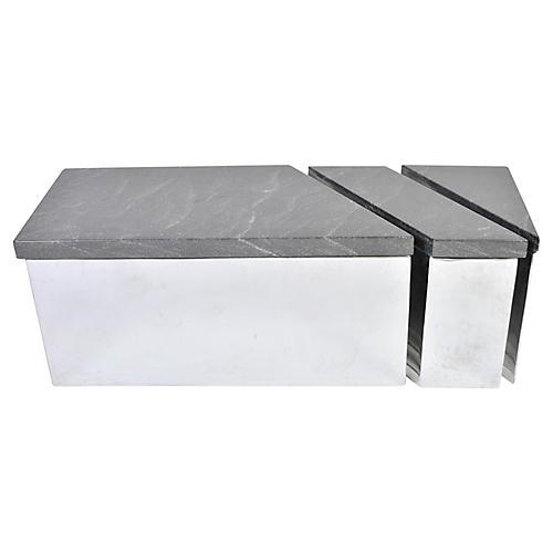 Trapezoid Coffee Table, 3 Pcs