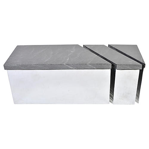 Trapezoid Coffee Table, 3 Pcs