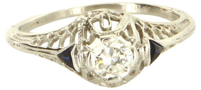 Diamond & Sapphire Filigree Ring